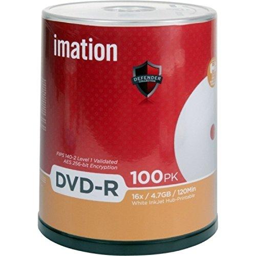 Imation Dvd-r 29911 4.7gb 16x White Inkjet Hub Printable 100/pk Cake Box