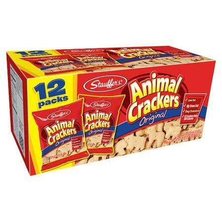 Low Fat Halloween Snacks (Stauffer's Low Fat Original Animal Crackers, 1.5 Oz., 12)