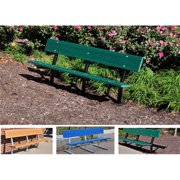 Jayhawk PB 6 BROGFMADING Madison In-Ground Bench with Galvanized Frame, Brown - 6 ft.