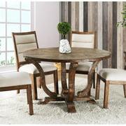 Furniture of America Meka Rustic Round Dining Table in Antique Oak