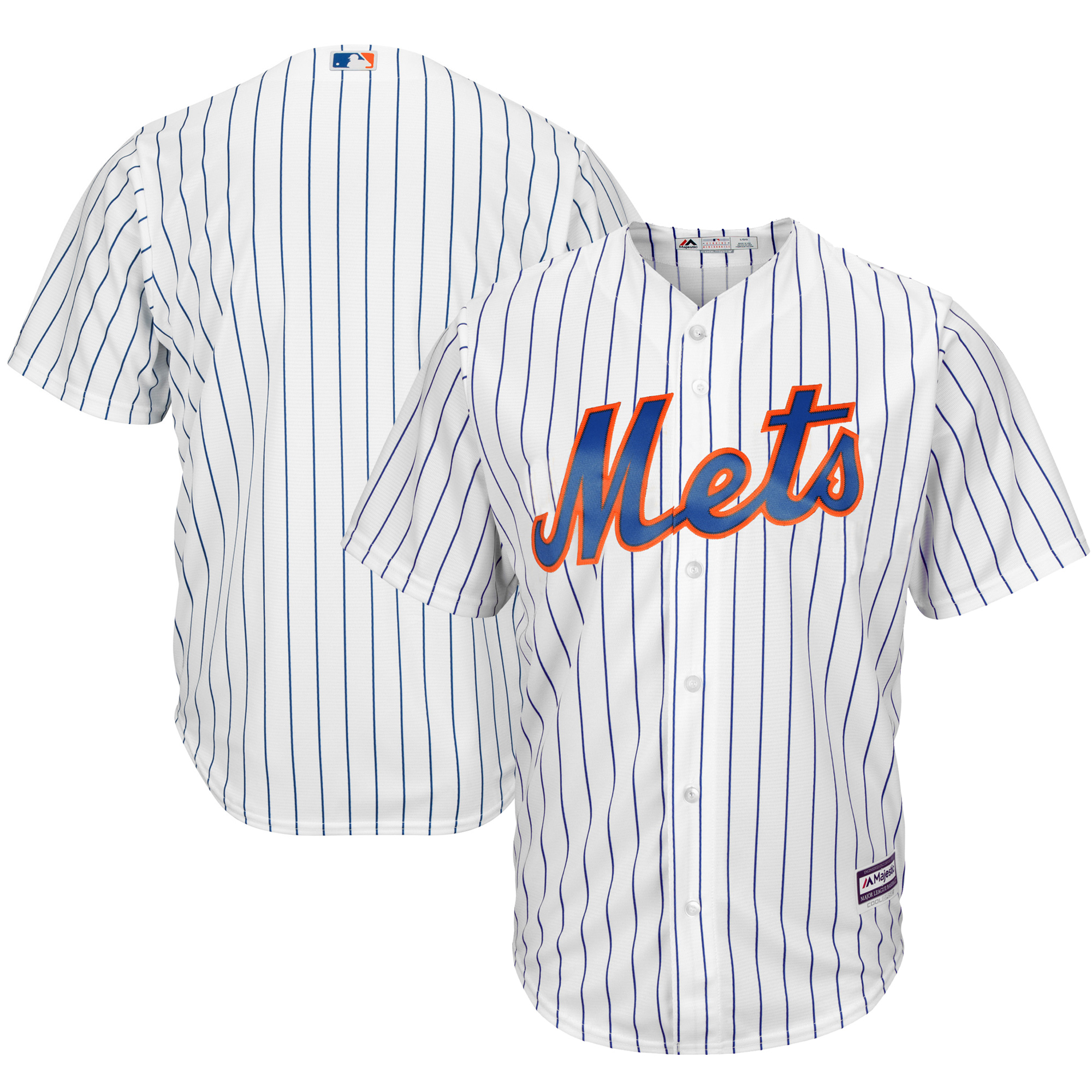 New York Mets Majestic Official Cool Base Jersey White by MAJESTIC LSG