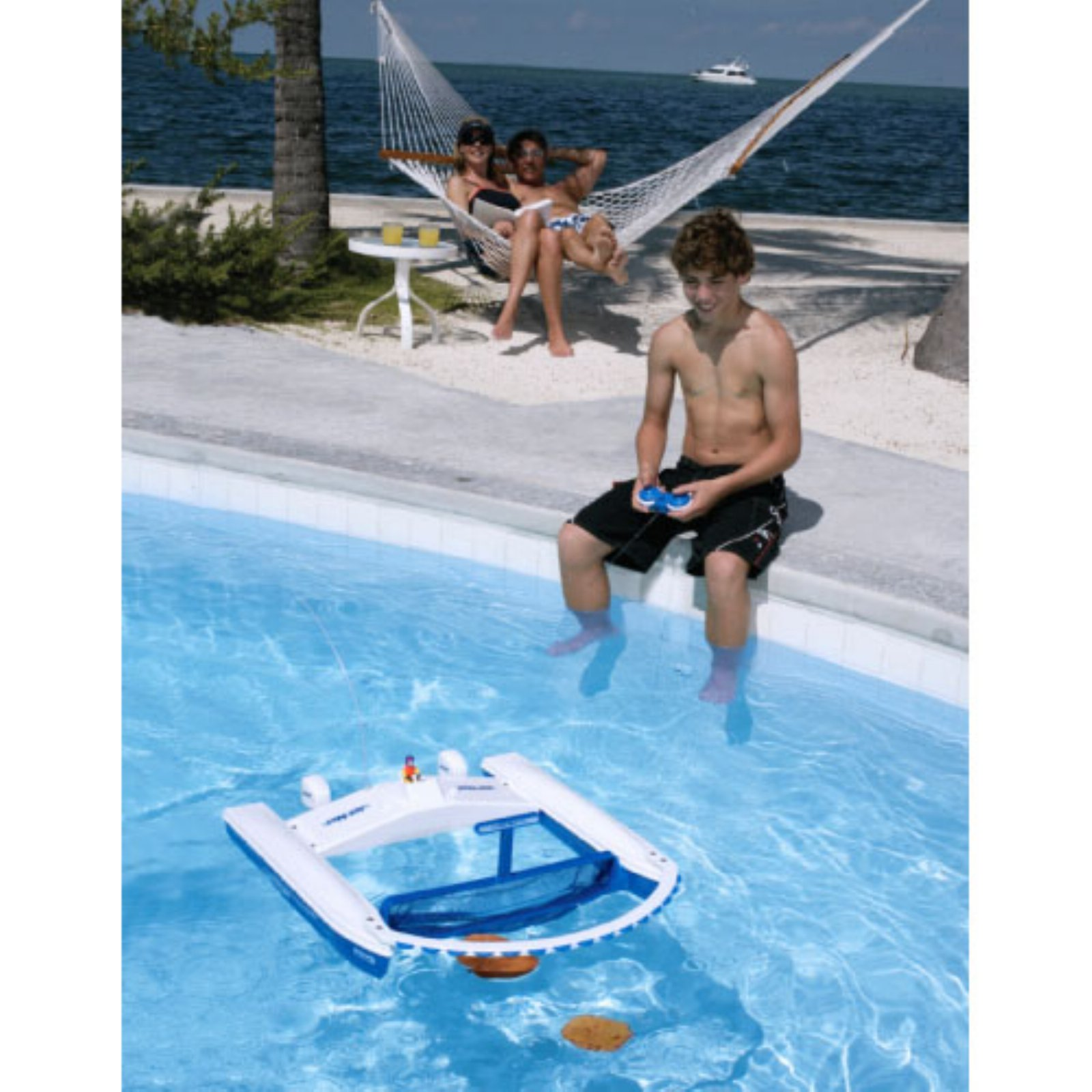 Jet Net Boat Pool Skimmer with Remote Control - Walmart.com