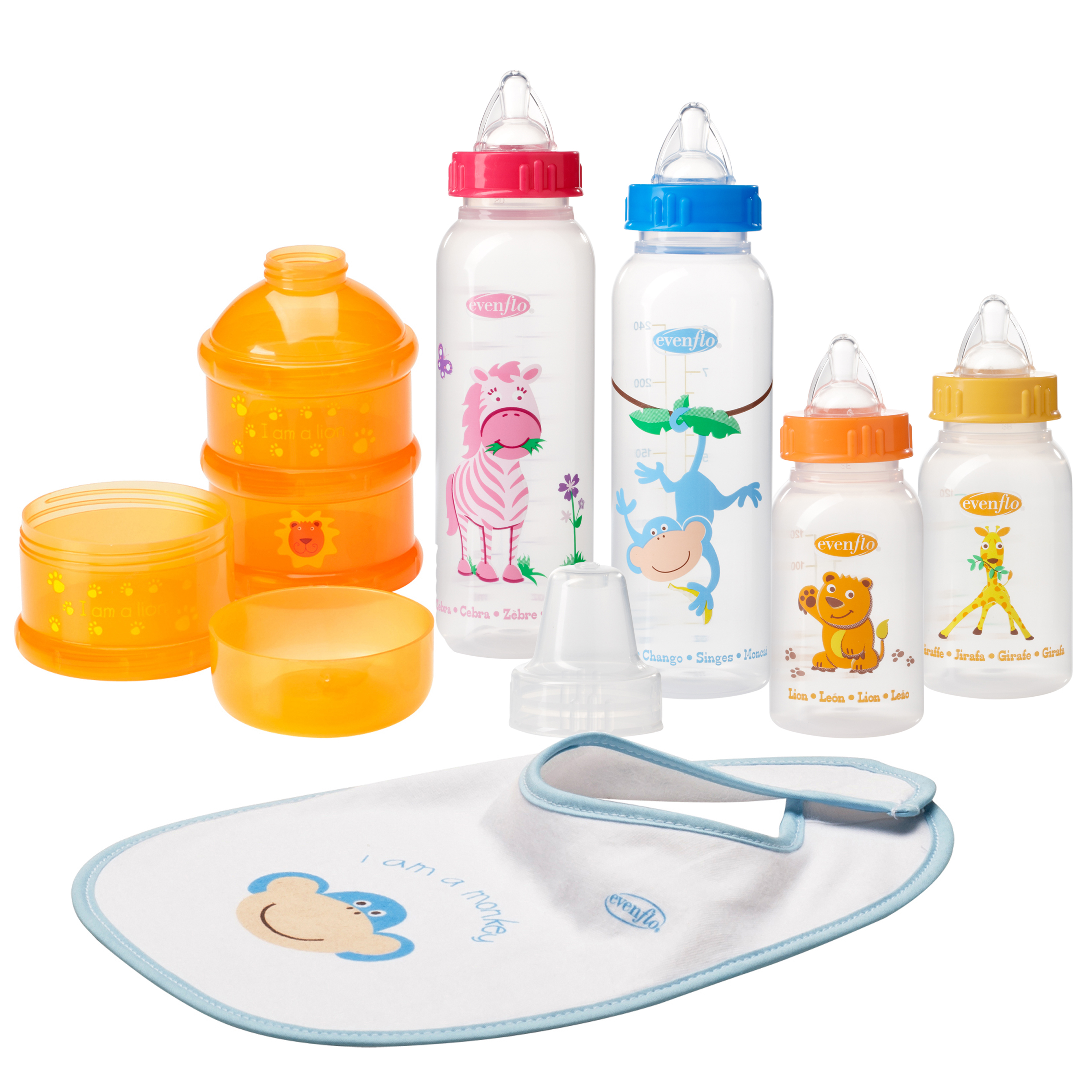 Evenflo Feeding Zoo Friends Infant Starter Set - 0m+