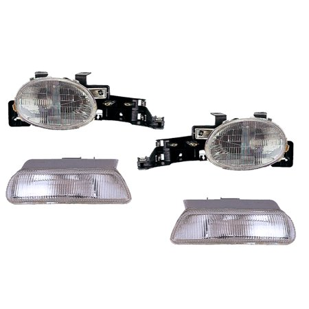 1995-1999 Dodge/Plymouth Neon 4-Piece Headlight Set CH2531102 & CH2530102 1999 Plymouth Neon Headlight