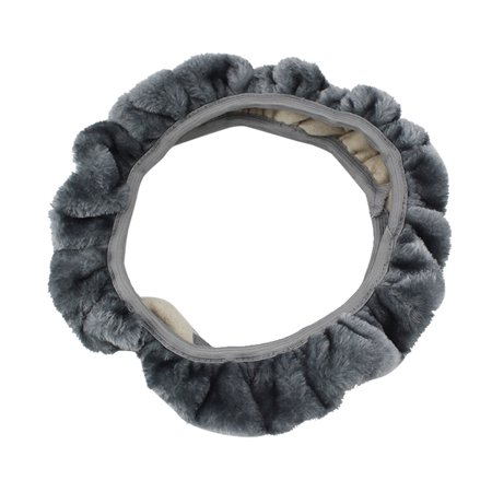 DZT1968 Universal Soft Wool Plush Fuzzy Auto Car Steering Wheel Cover For (Furry Wool)