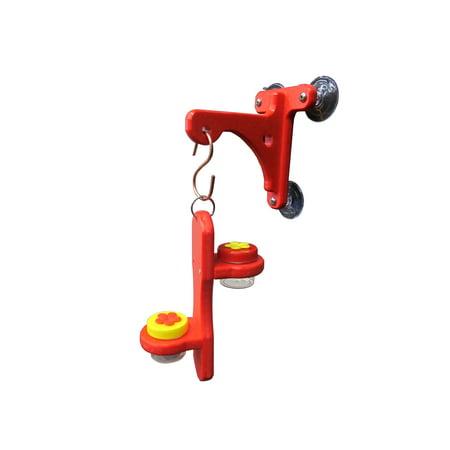 Hanger Kit - Red Window Hanger with Double Hummingbird DOTS Holder Kit