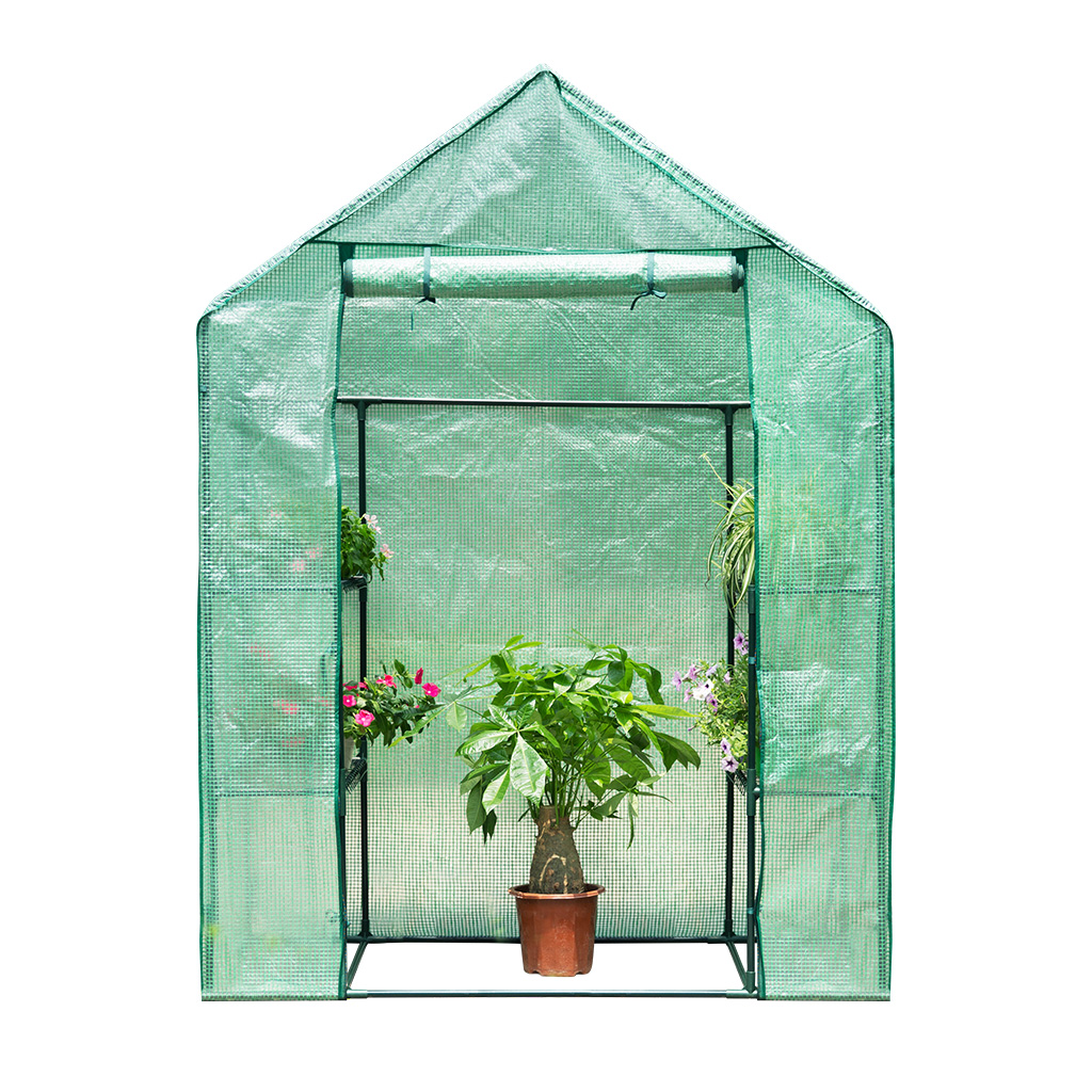 Walk-In 3-Tier 4-Shelf Portable Garden Greenhouse PE Cover for Indoor Outdoor Herb Flower... by