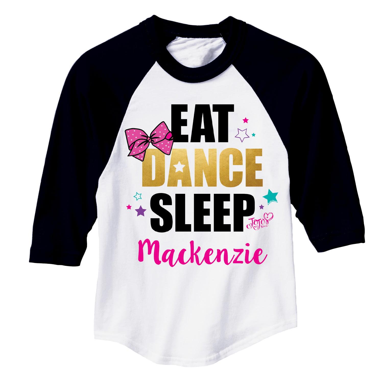 JoJo Siwa Youth Girls Sports Jersey - Eat Dance Sleep - S, M, L, XL