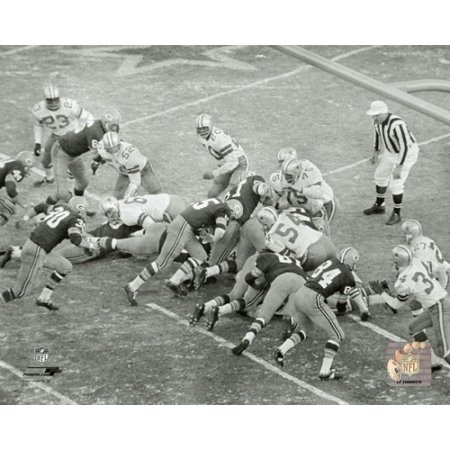 Bart Starr 1967 Ice Bowl Touchdown Photo Print Bart Starr Ice Bowl