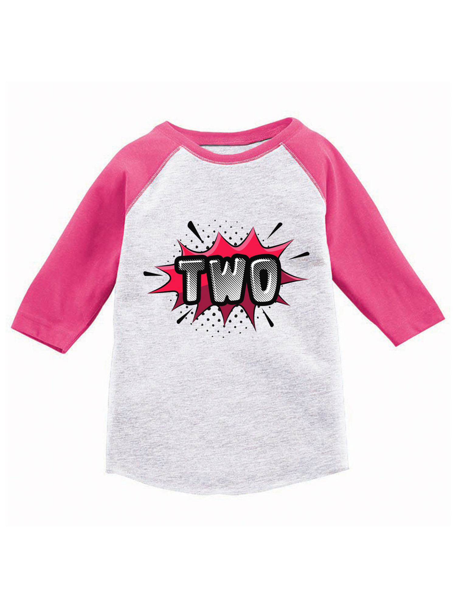 Gift for 2 Year Old Shark 2nd Birthday 3//4 Sleeve Baseball Jersey Toddler Shirt