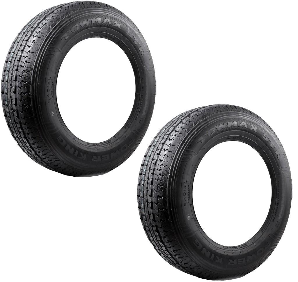 2-Pack TowMax Radial Trailer Tires ST205/75R15 Load Range...