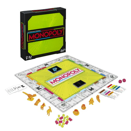 Monopoly Neon Pop Board Game for Kids Ages 8 and Up For 2-6 Players