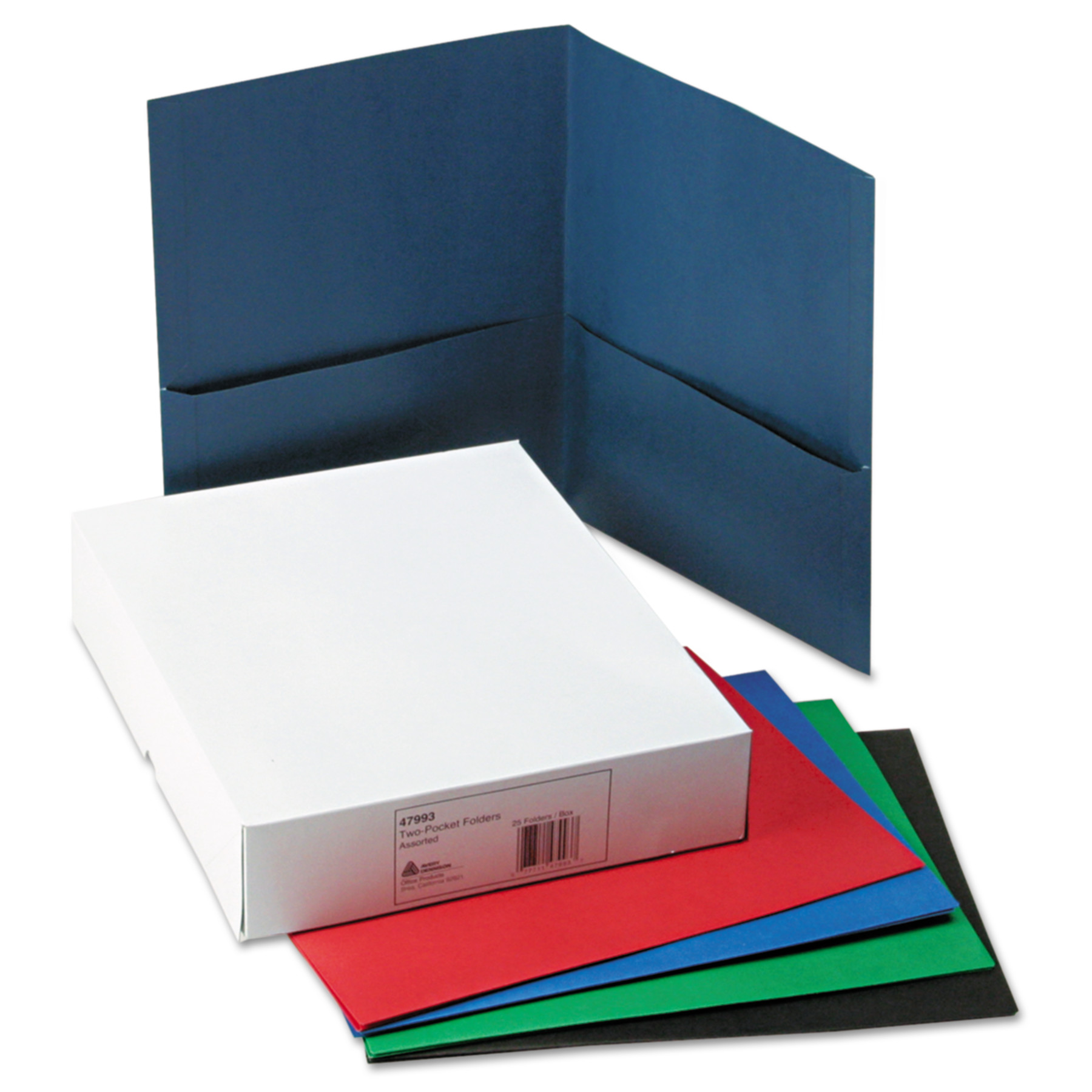 Avery Two Pocket Folder 40 Sheet Capacity Assorted Colors 25