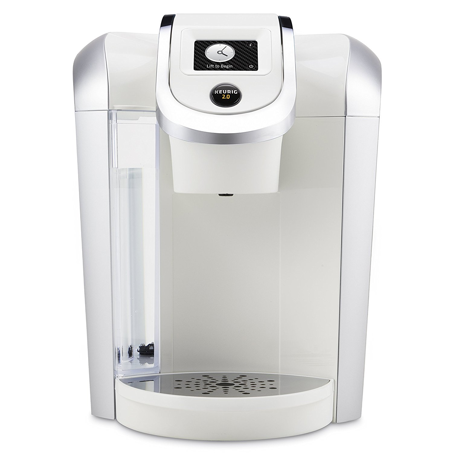 Keurig 2.0 K475 White Brewing System with Color Touch Display