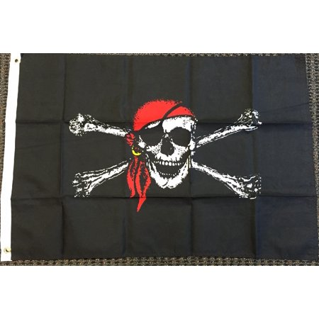 PIRATE FLAG 3x5 Jolly Roger Bandana Skull Crossbone Ship Banner Boat Pennant New](Banner Flag)