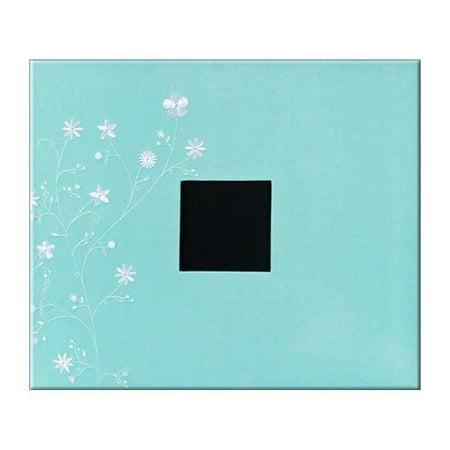 AMC Album 12x12 D Ring Flower Print Robins Egg - 12x12 Scrapbook