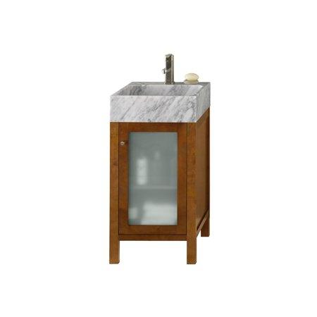 Ronbow Cami Cinnamon 18 Inch Bathroom Vanity Set With White