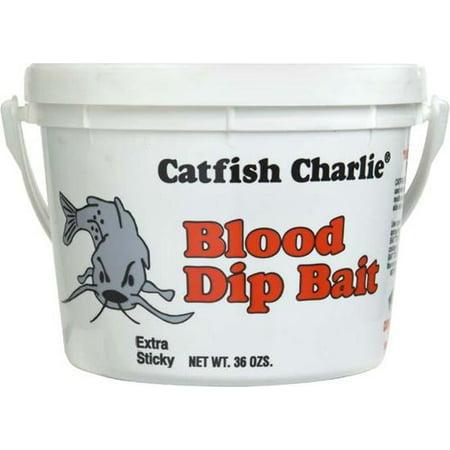 Catfish Charlie Blood Dip Bait 36 oz Bucket