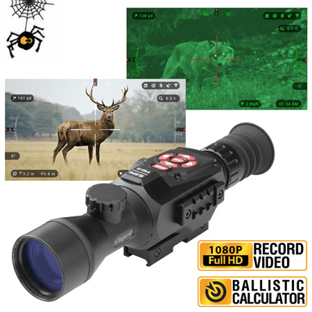 ATN X-Sight II HD 3-14 Smart Day/Night Rifle Scope w/1080p Video, Ballistic Calculator, Rangefinder, WiFi, E-Compass, GPS, Barometer, IOS & Android (Best Satellite Finder App For Android)
