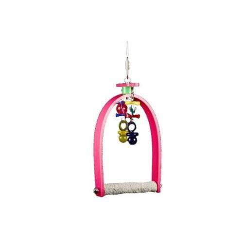 Whirly Bird Swing w Beads & Concrete Perch (Blue)