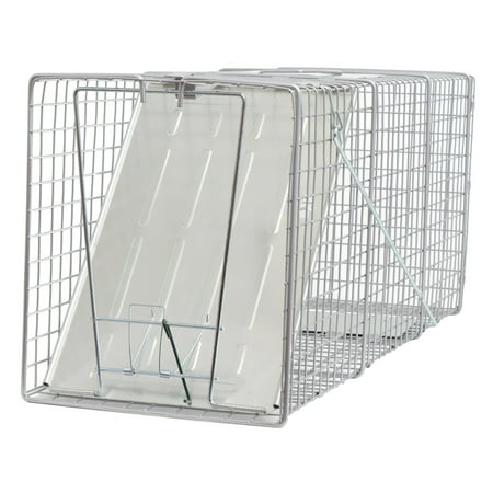 Pack of 2 Large One Door Catch Release Heavy Duty Cage Live Animal Trap for Gophers, Oppossums, Groundhogs, Beavers, and Other Similar Sized Animals, 32
