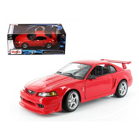 2000 ford mustang cobra r svt red 1 18 diecast model car by maisto. Black Bedroom Furniture Sets. Home Design Ideas