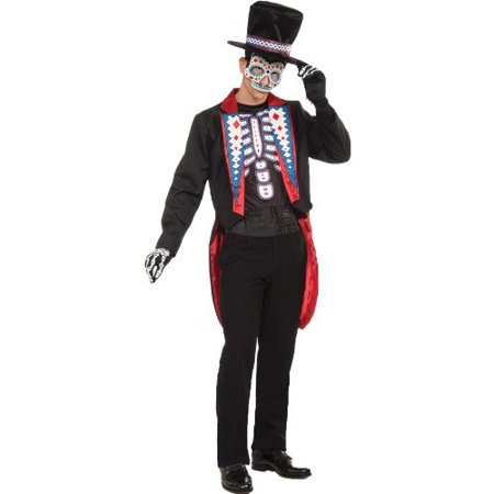 Day of the Dead Male Adult Halloween Costume - One Size
