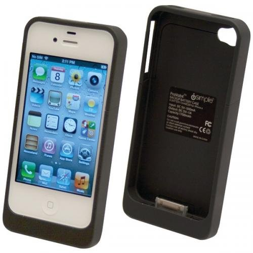 iSimple ProVolt4 Backup Battery and Charging Case for iPhone 4