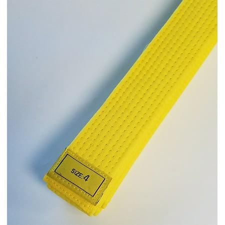 Double Wrap Stud Belt (Yellow Taekwondo Belt Karate Belts Martial Arts MMA Hapkido Double Wrap)