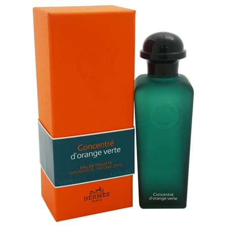 Hermes Concentre D'Orange Verte Eau de Toilette for Unisex, 3.3