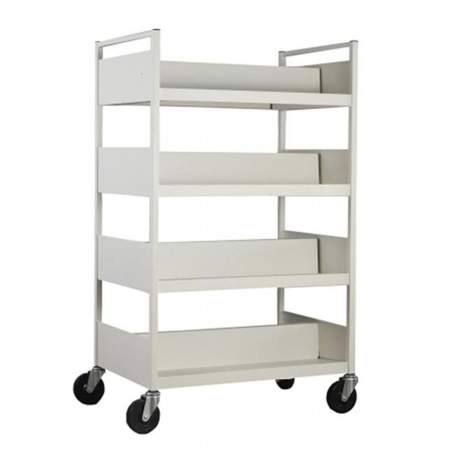 Toltec Products 434 4 Level Book Cart