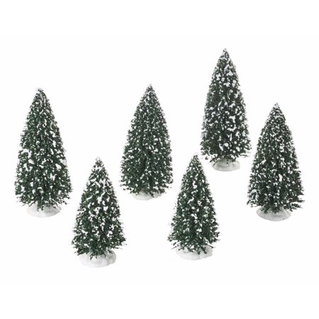 - Department 56 Village Frosted Pine Grove Evergreen Tree Figurine Set 6 4054236