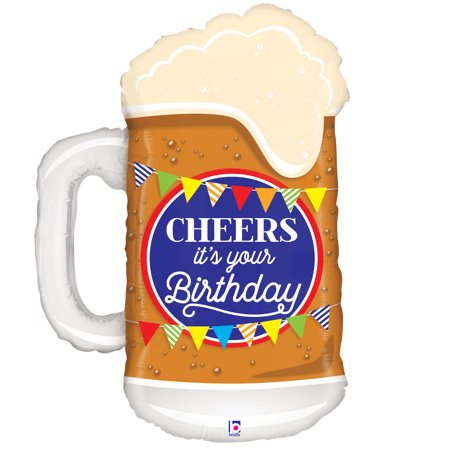 Cheer's Birthday Beer Mylar Balloon - Patrick Balloon
