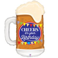 Cheer's Birthday Beer Mylar Balloon