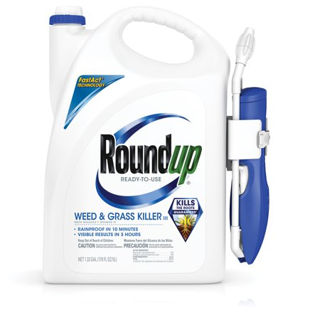 Roundup Ready-To-Use Weed & Grass Killer III with Comfort Wand, 1.33 gal.