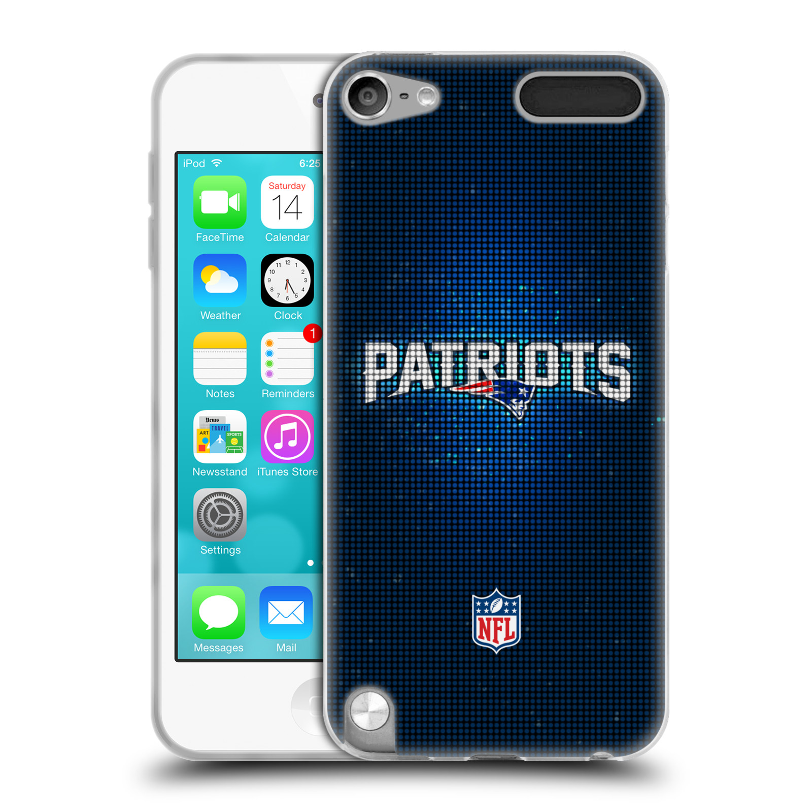OFFICIAL NFL 2017/18 NEW ENGLAND PATRIOTS SOFT GEL CASE FOR APPLE IPOD TOUCH MP3