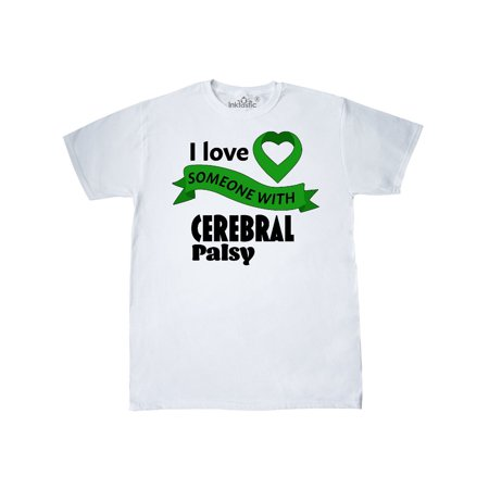 Cerebral Palsy Ribbon (I Love Someone with Cerebral Palsy green heart ribbon)