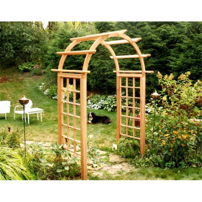 Creek Vine Designs EY66ARCVD Cedar Arched Arbor - 66 inch Opening