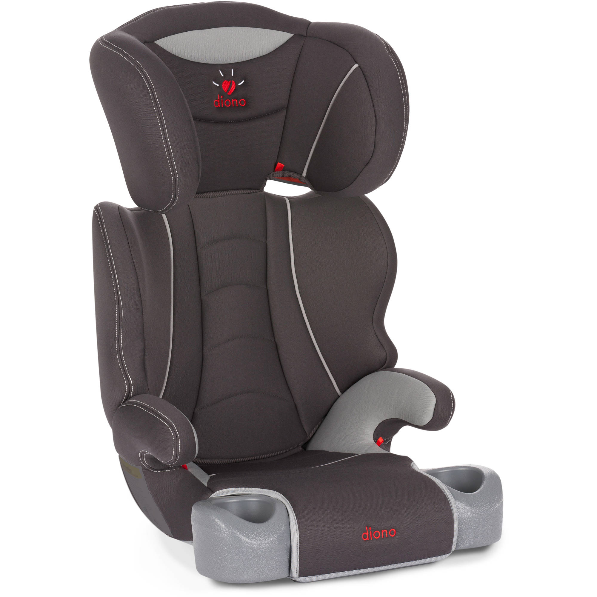 Diono Hip High Back Booster Car Seat with Cup Holders, Slate