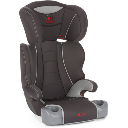 Diono Hip High Back Booster Car Seat With Cup Holders  Slate