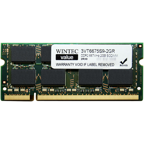 Wintec Value 2GB DDR2 PC5300 SO-DIMM Netbook & Notebook Memory