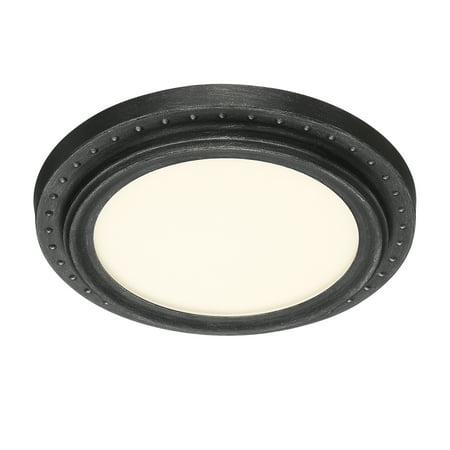 """Designers Fountain LED1292-WP 11"""" Edge Lit LED Flushmount in Weathered Pewter"""