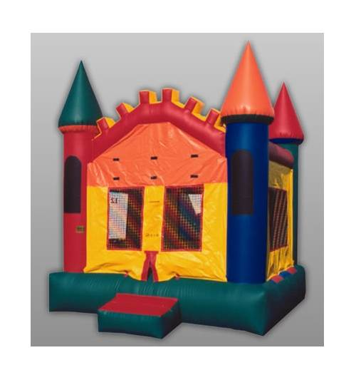 Inflatable Castle IV w Bounce Floor and Mesh Sides (13 ft.)