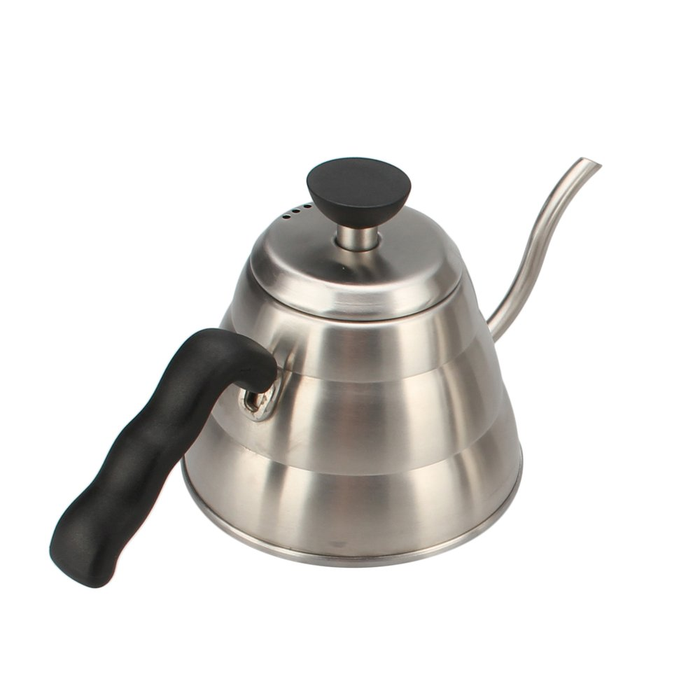 Silver Teapot 1L Large Capacity Stainless Steel Gooseneck Hand Teakettle For Coffee &