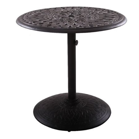darlee 30 round pedestal patio dining table