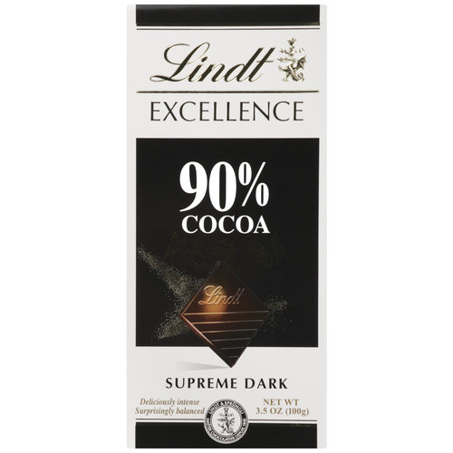 Lindt Excellence 90% Cocoa Supreme Dark Chocolate, 3.5 oz