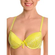 Angelina Wave Splash Padded Demi-Cup Convertible Bras (6-Pack)