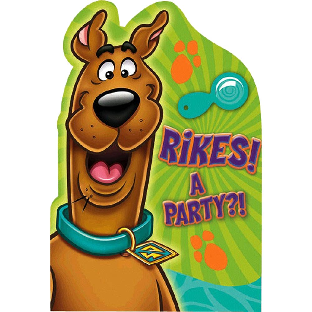 Scooby-Doo Postcard Invitations