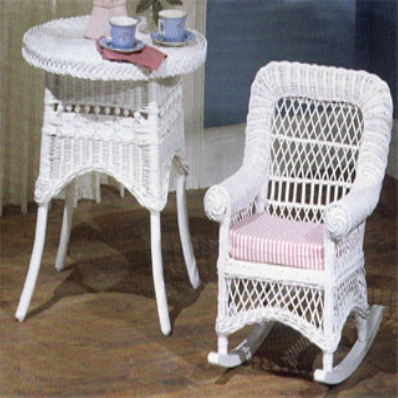 Yesteryear Wicker Childs Wicker Rocking Chair with Cushion by Yesteryear Wicker