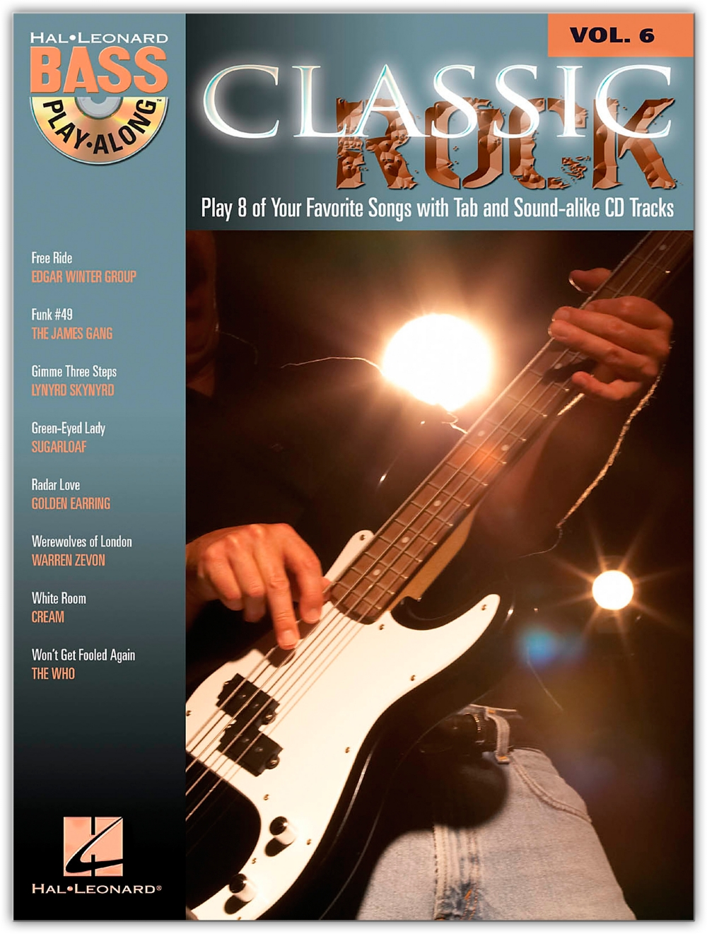 Hal Leonard Classic Rock Bass Guitar Play-Along Series Volume 6 Tab (Songbook Online... by Hal Leonard